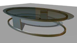 ma oval glass table