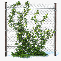 3d chain link fence hop model