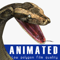 3ds max reptile snake python
