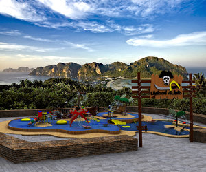 3d pirate water theme park model