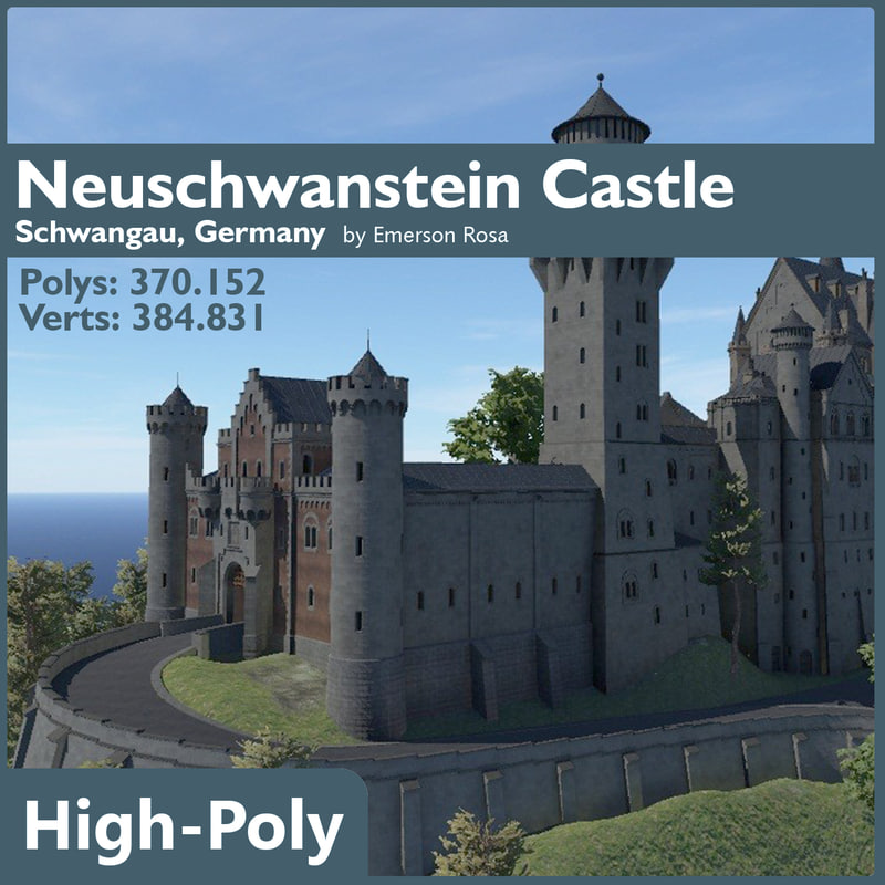 3d model neuschwanstein castle