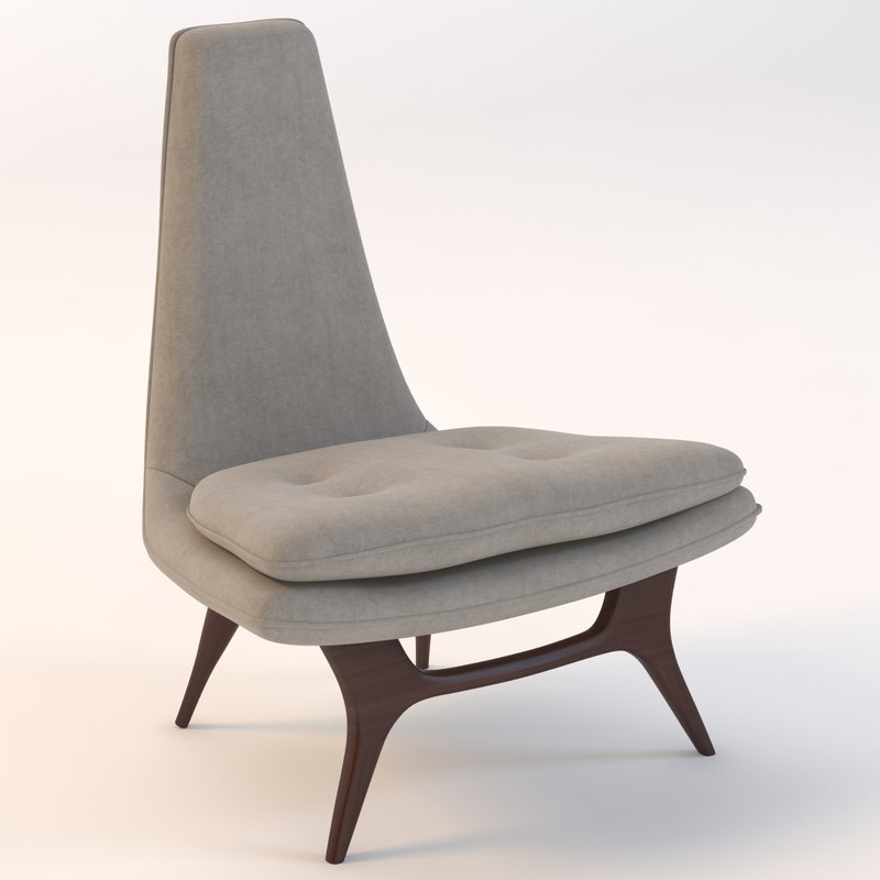 3d sculptural lounge chair
