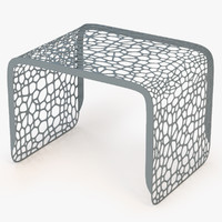 3d end table coral