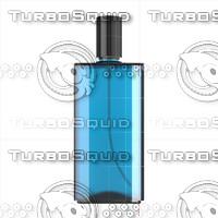 3d bottle blue