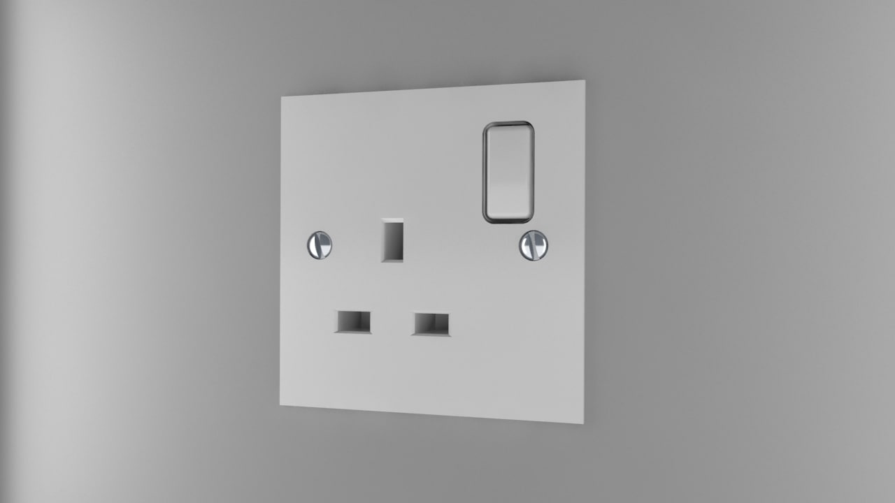power socket type g 3d 3ds