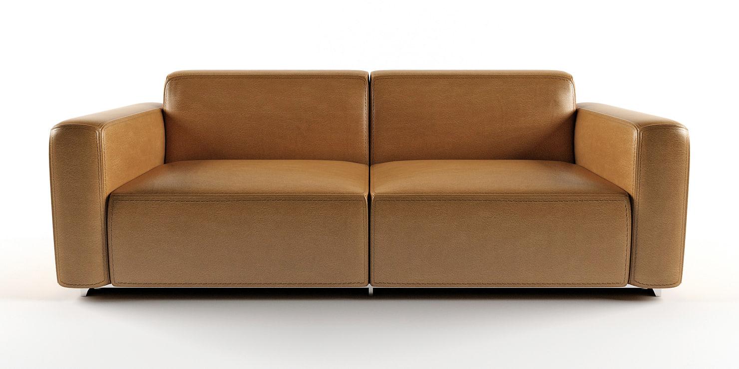 3d model leather furnishings