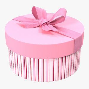 giftbox 5 pink 3d c4d