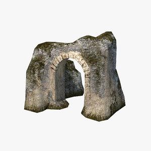 3d model of ruins port
