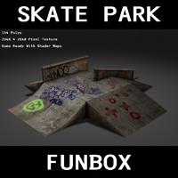 3d funbox skate park model