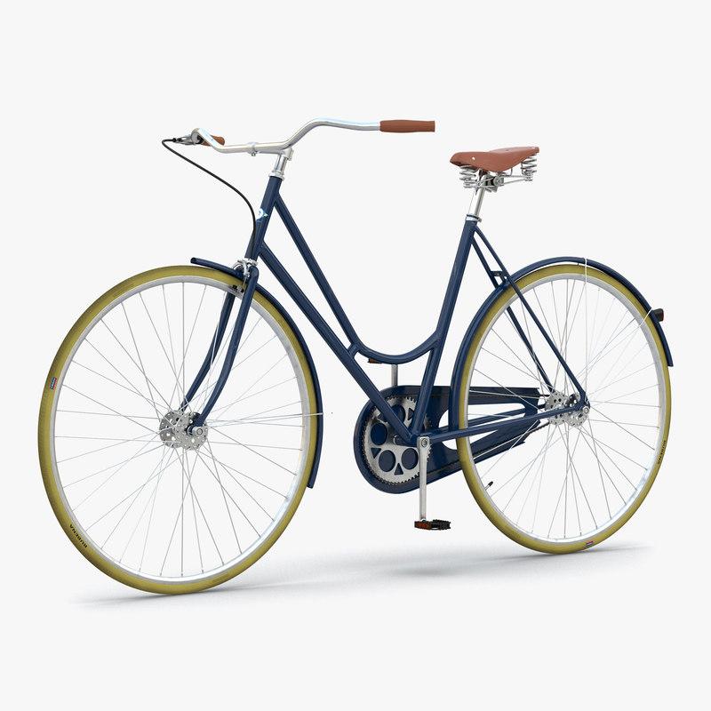 city bike blue 3d max