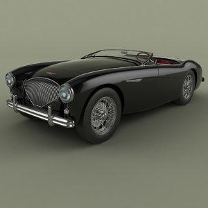 3d model 1954 austin-healey 100-4