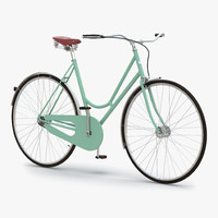 3d model of city bike green