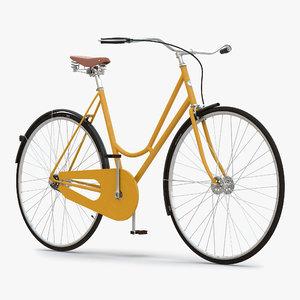 3d city bike yellow