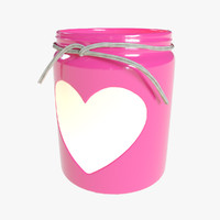 Valentines Day Heart Jar Candle