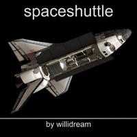 3d c4d space shuttle