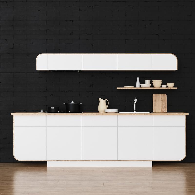 3d kitchen sink model