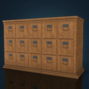 3d model vintage office cabinet