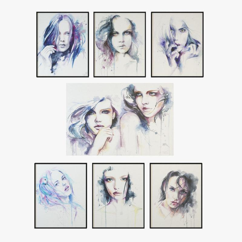3d model frames images
