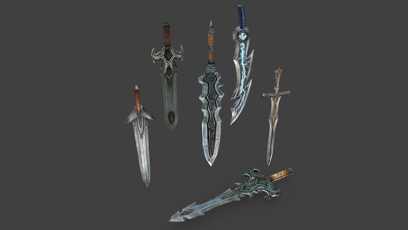 3ds pack medieval swords 1