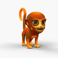 Monkey Cartoon Rigged