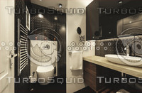 3d bathroom model