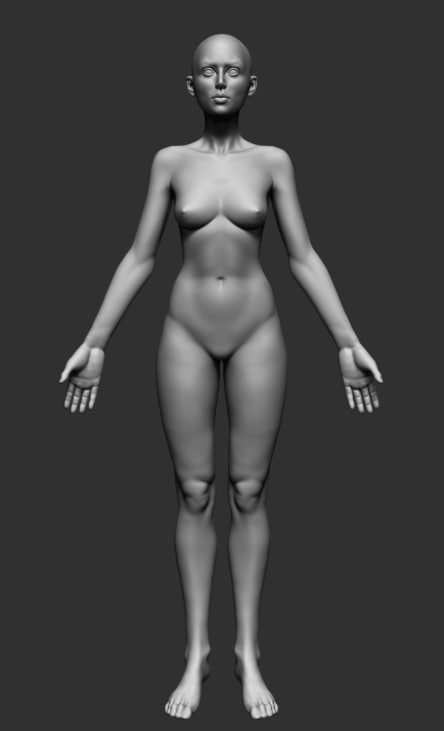 3d obj female anatomy