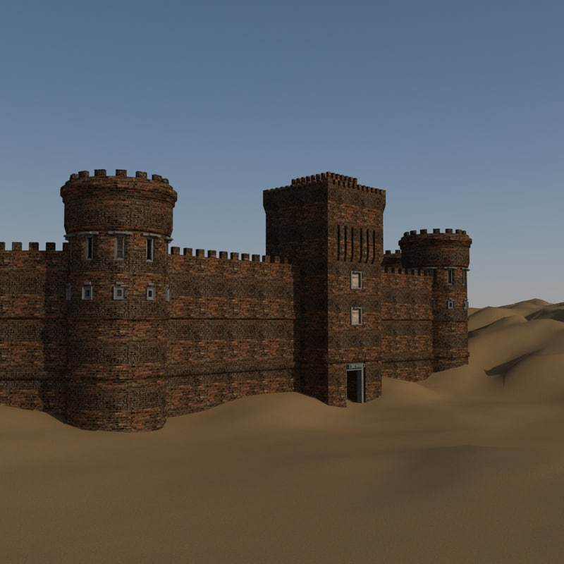 3d model set modular castle