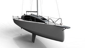 3d sailing boat ichi inland