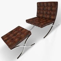 3ds barcelona chair stool