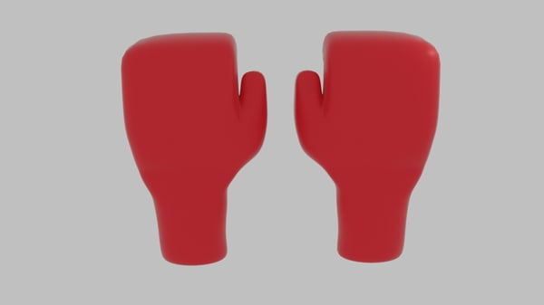 free boxing glove 3d model