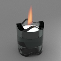 free candle holder 3d model
