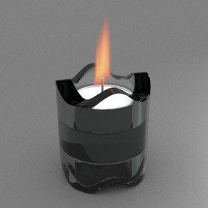 free candle holder 3d model