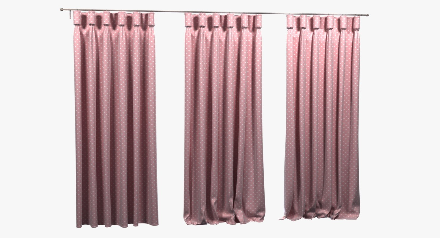 pink kids curtains goblet 3ds