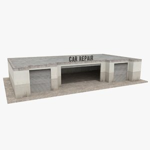car repair garage 3d model