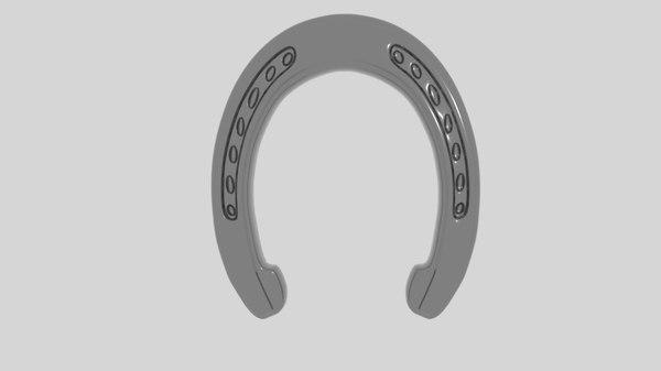 horse shoe horseshoe 3d model