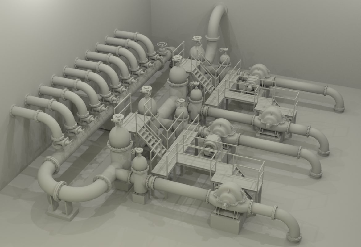 - water station 3d model