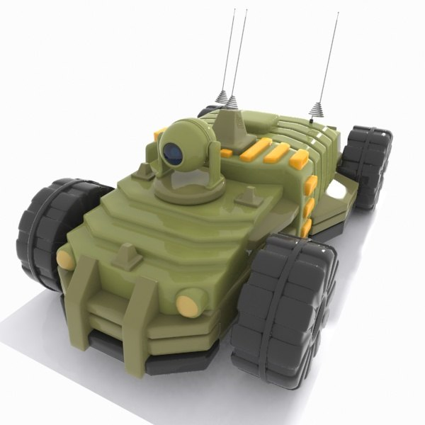 cartoon unmanned vehicle 3d 3ds