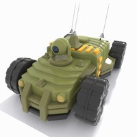 Cartoon Unmanned Vehicle