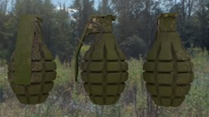 3d model of mk2 grenade