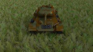 3ds max soviet t-34 85 tank
