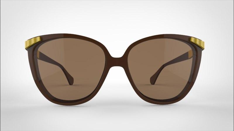 3d max sunglass glasses sun