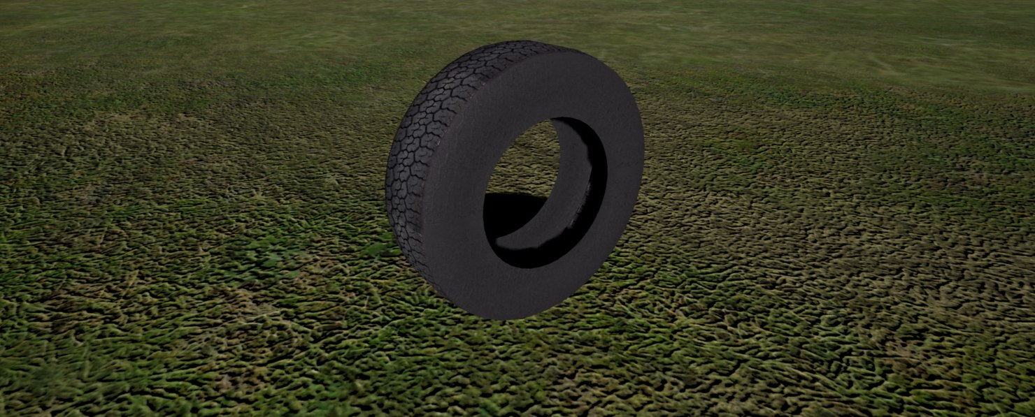 3d model car tire wheel 3