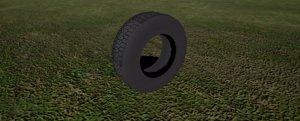 3d model car tire wheel 3