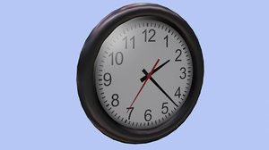 3d model of office wall clock