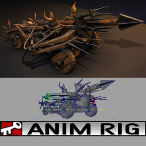 ballista rigged 3d model