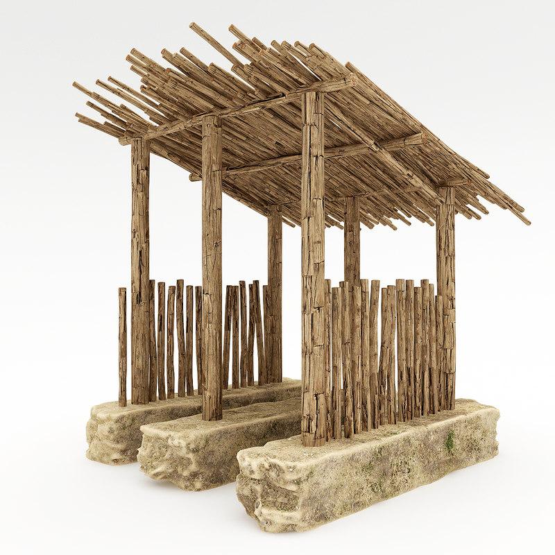 clay house 3d model