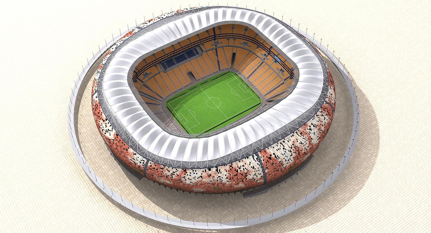 3d soccer city stadium