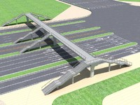 3d pedestrian bridge foot footbridge model