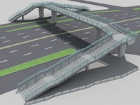 pedestrian bridge foot 3d max