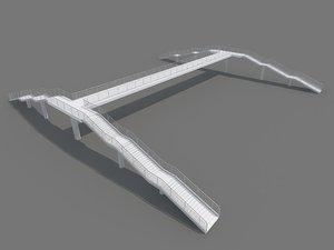 3d pedestrian bridge foot footbridge